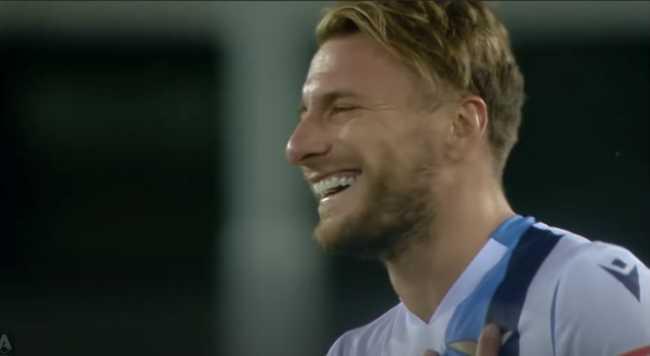 Ciro Immobile cetak hat trick ke gawang Hellas Verona